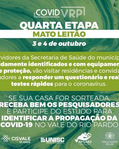 ÚLTIMA ETAPA TESTES RÁPIDOS COVID-19 NESTE SÁBADO