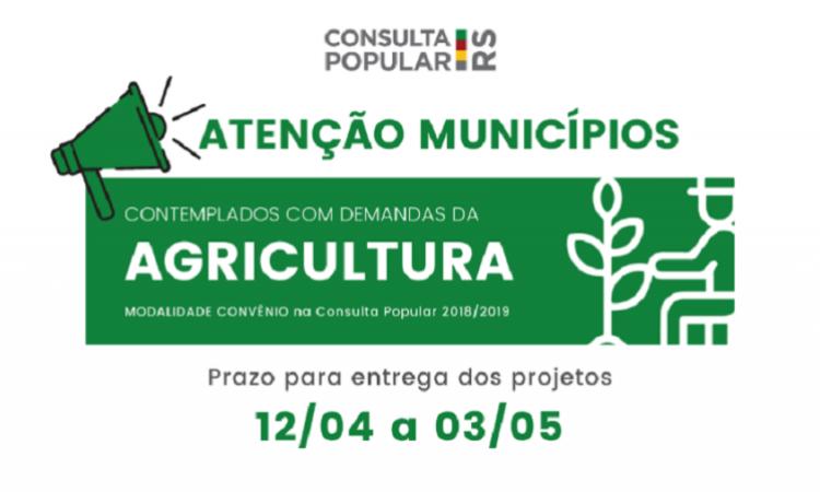 ESTADO ANUNCIA RECURSOS DA CONSULTA POPULAR 2018