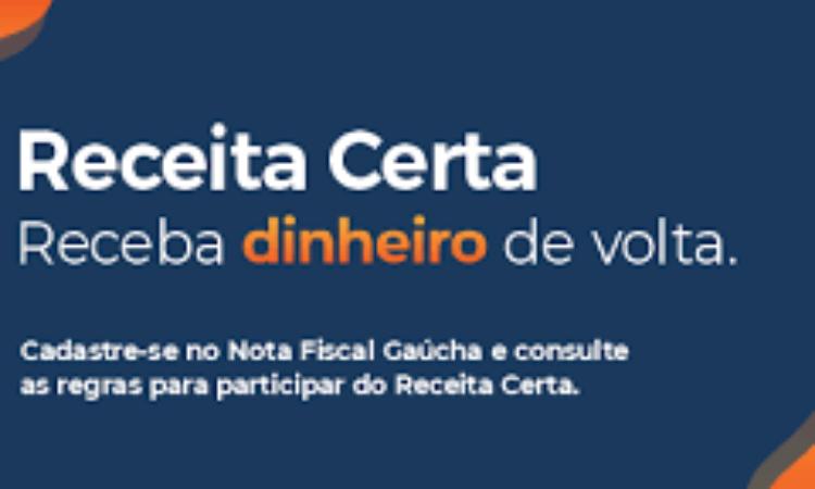 'RECEITA CERTA' A NOVA OPÇÃO PARA PRÊMIOS NA NFG